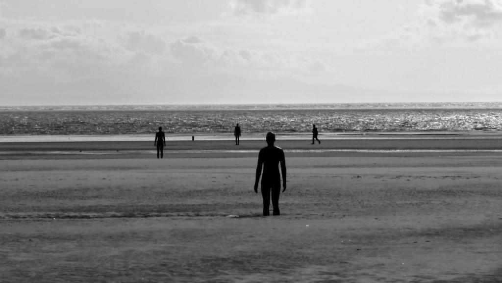 Iron Men on Crosby Beach, Merseyside
