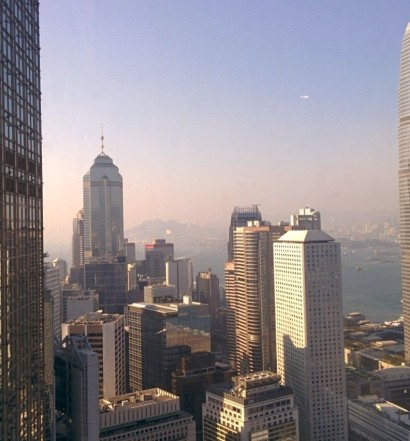 View of Central from the Bank of China Tower, Hong Kong