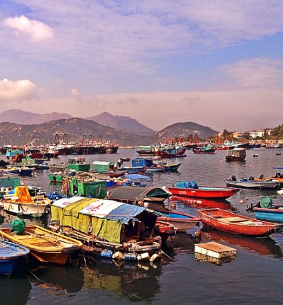 The Typhoon Shelter at Cheung Chau, Hong Kong