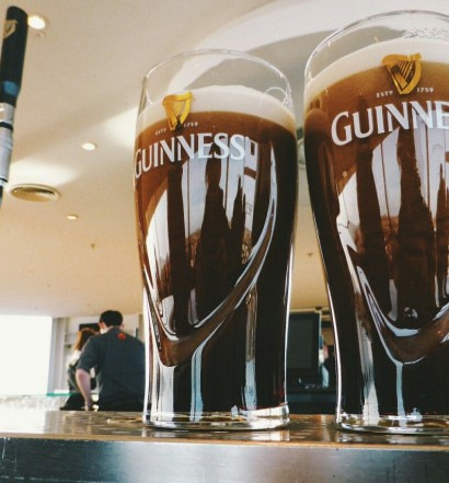 A couple of gorgeous pints of Guinness