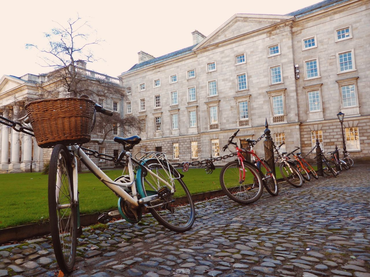 Bicycles at Trinity College, Dublin