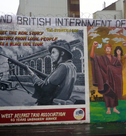 A mural in west Belfast
