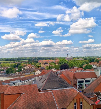 The view from St Albans Clock Tower