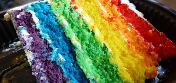 Rainbow Cake for Manchester Pride
