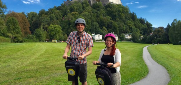 Matt & Jade on Segways in Salzburg