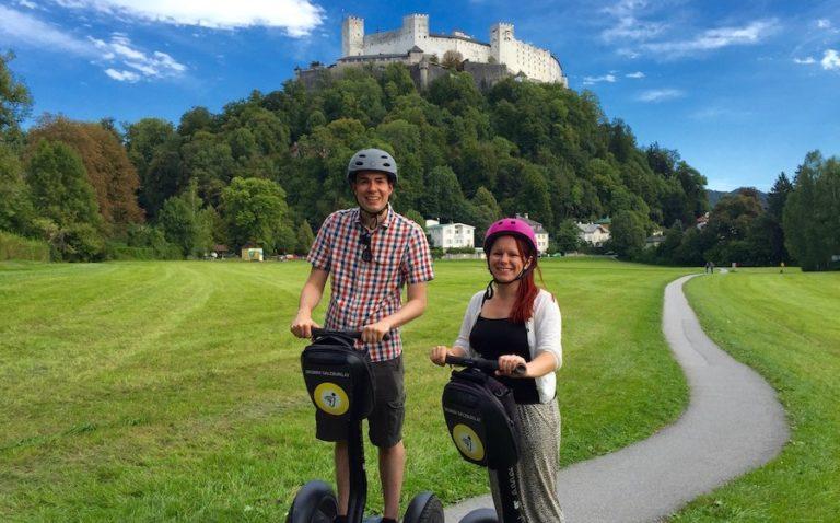 Matt & Jade on Segways in Salzburg