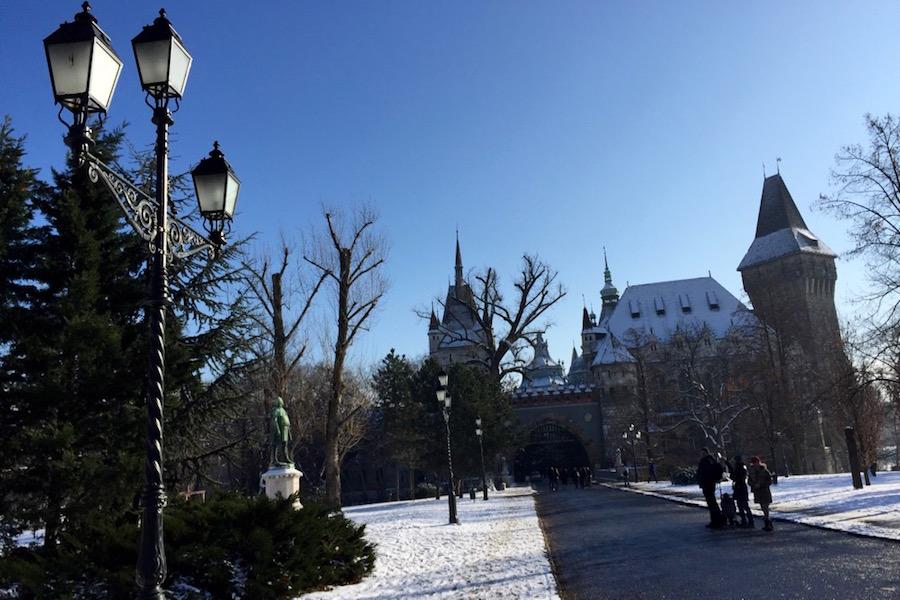 Vajdahunyad Castle in Budapest's City Park
