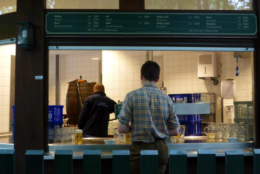 Serving hatch, Beer Garden, Munich