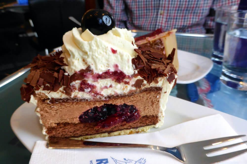 Black Forest Cake at Cafe Rischart, Munich