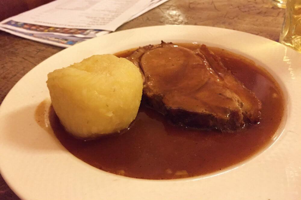 Roast Pork at Hofbrauhaus, Munich