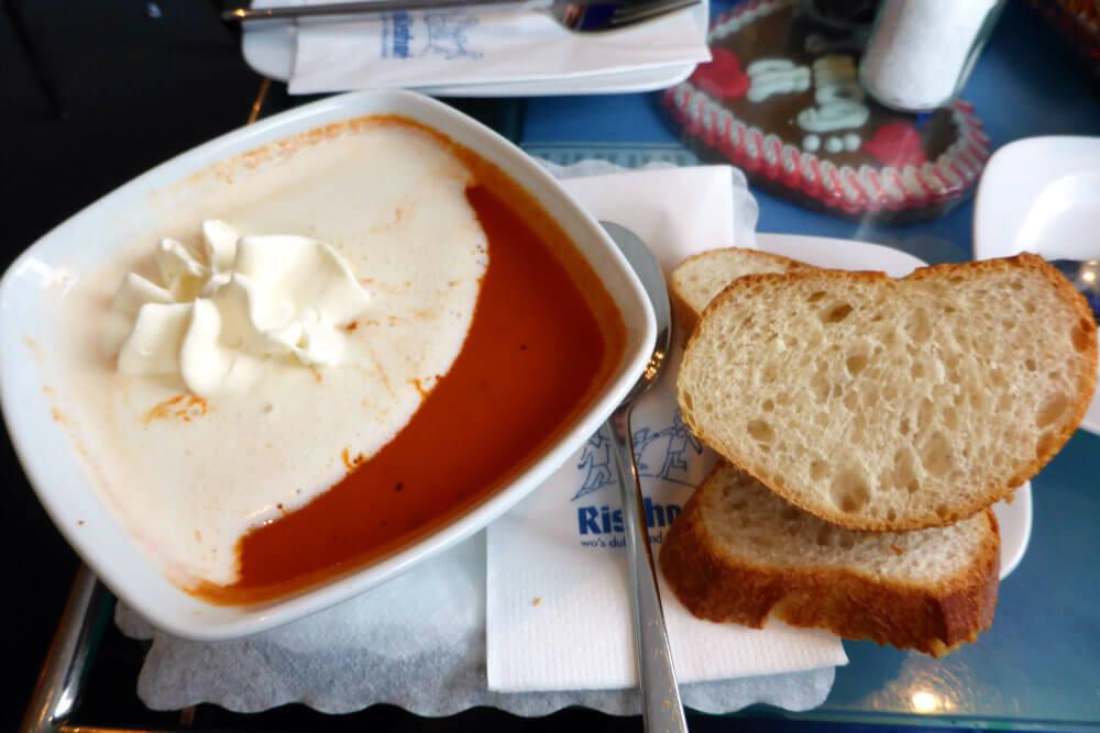 Tomato Soup at Cafe Rischart, Munich
