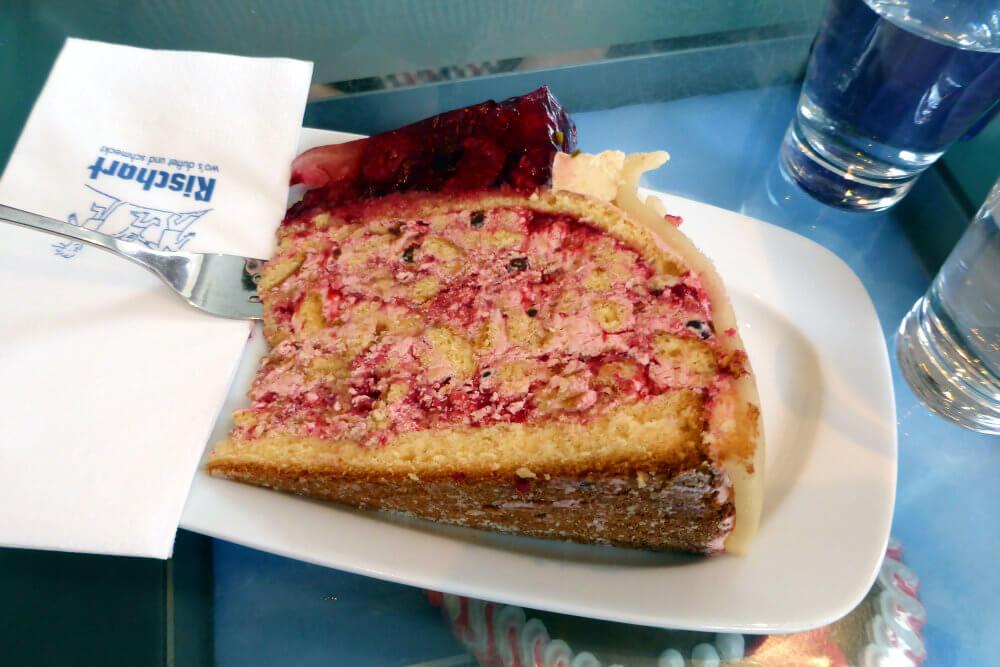 A scrumptious torte at Cafe Rischart, Munich
