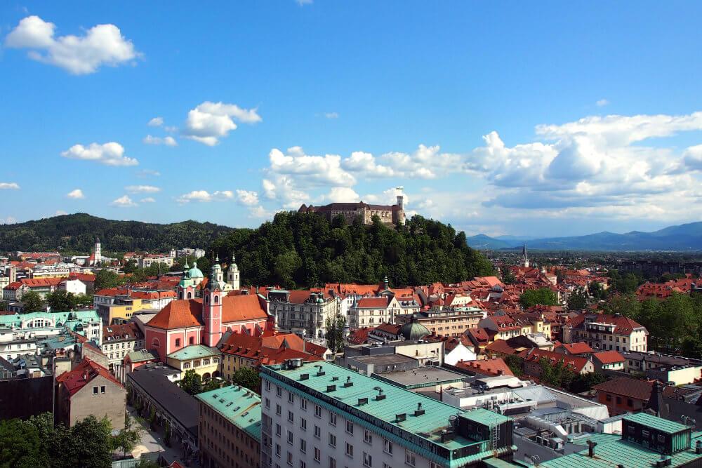View of Ljubljana from the Skyscraper
