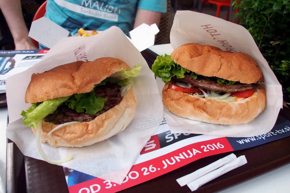 Horse Burgers at Hot Horse, Ljubljana