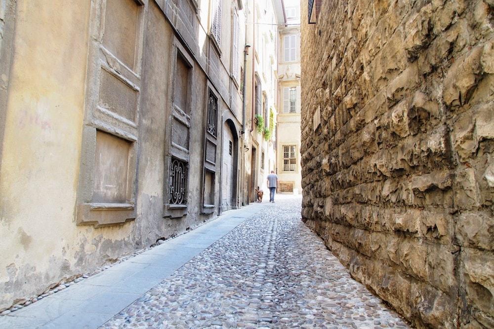 Pretty lane in Bergamo