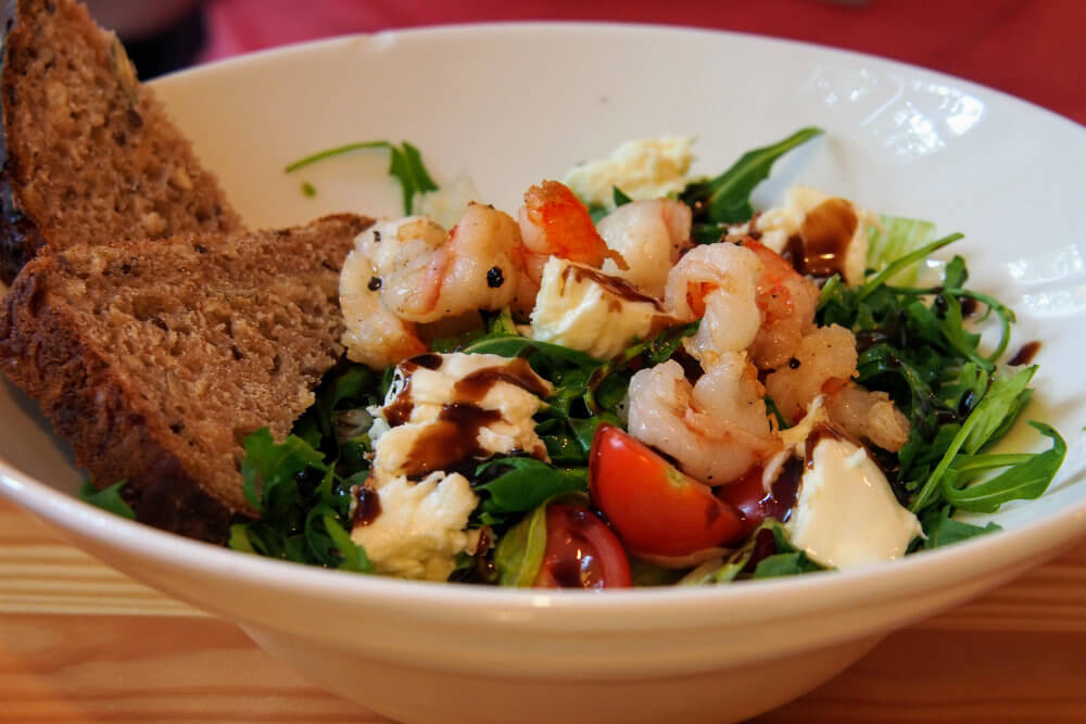 Crayfish salad at Lavanda, Poznań