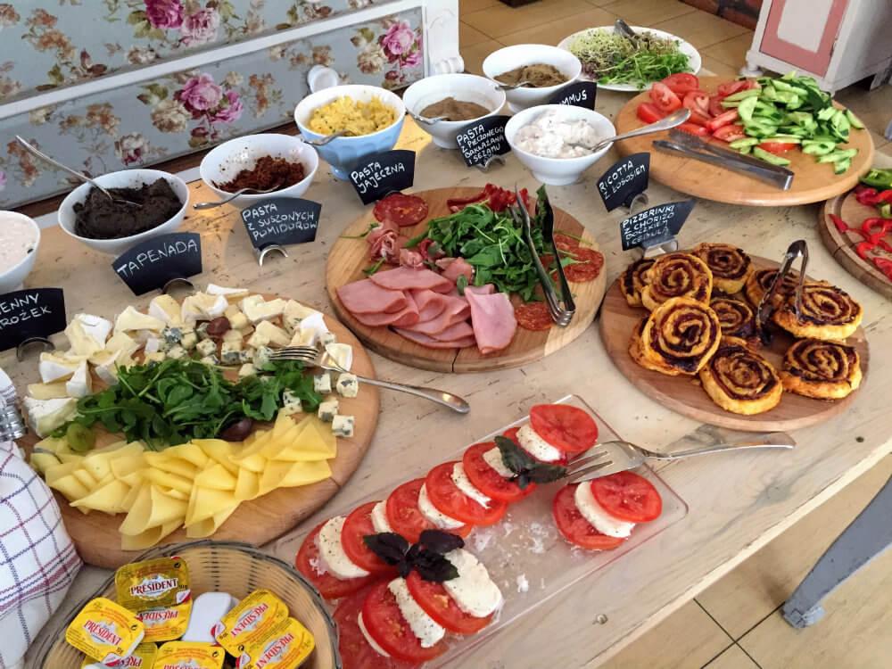 A small sample of the breakfast spread at Republika Róż