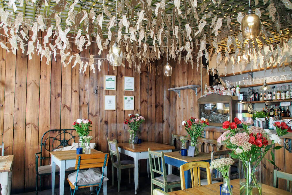 The beautiful interior of Weranda Cafe, Poznań