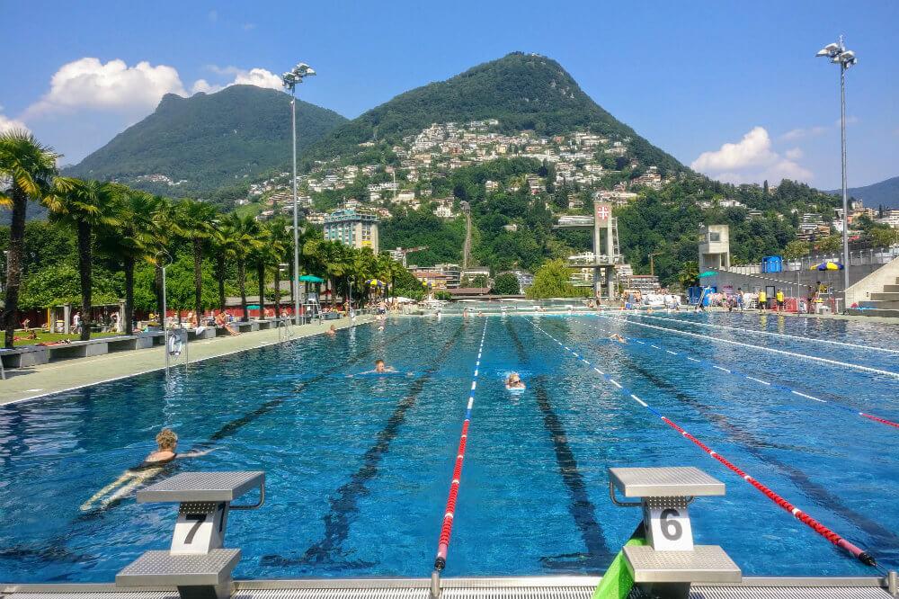The main swimming pool at Lido di Lugano, Switzerland