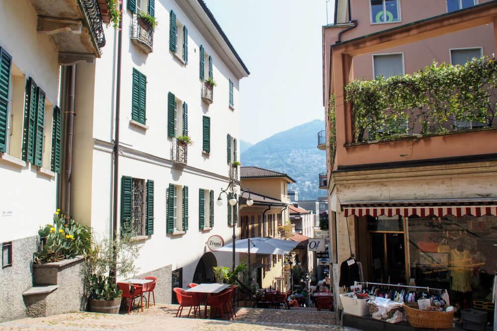 The pretty streets of Lugano, Switzerland