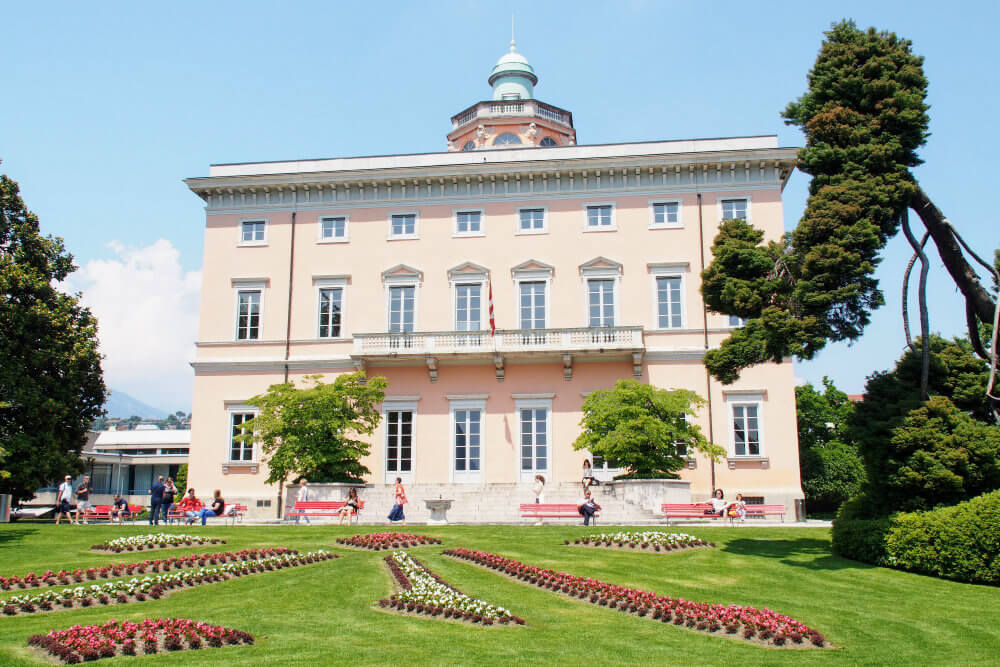 Villa Ciani, a 1930s house can be found in the park which shares its name
