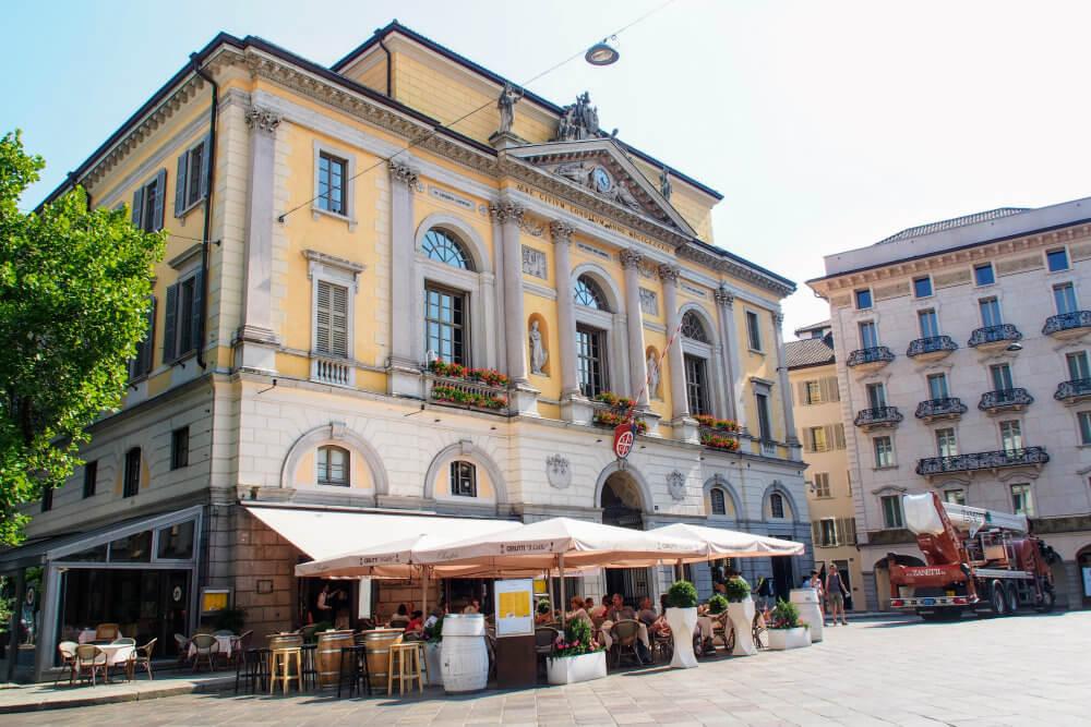 Municipio di Lugano on Piazza Riforma houses the tourism office