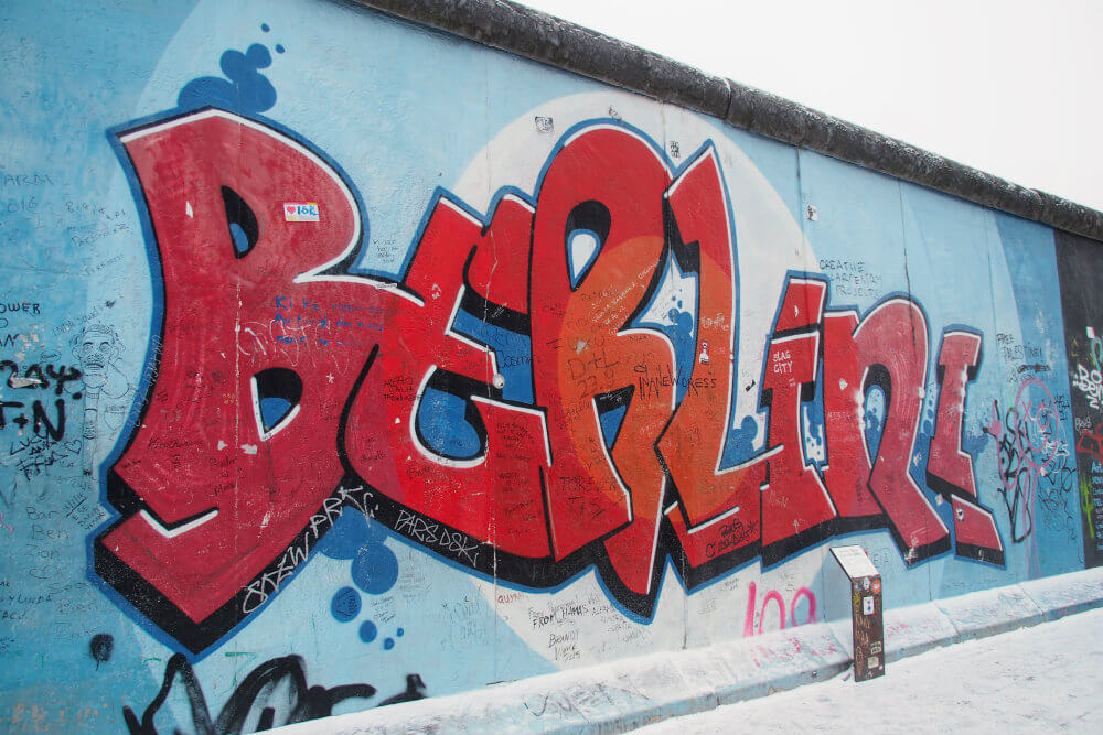 A helpful reminder of where you are at Berlin's East Side Gallery