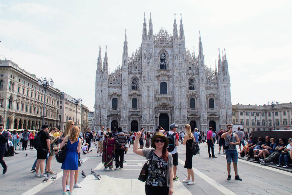 It's here: Jade helpfully points outs the massive Duomo di Milano