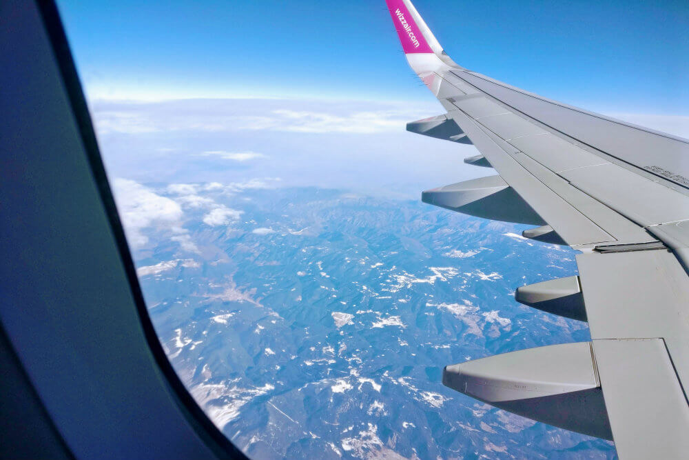 Flying into Cyprus from London Luton (LTN) by budget airline, Wizz Air.