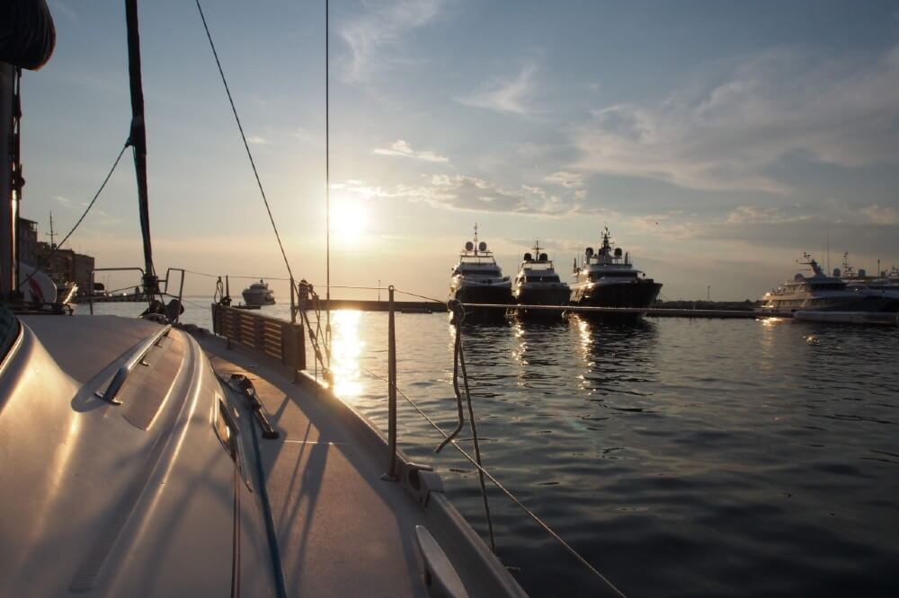 Sailing out of Zadar Harbour into the Adriatic Sea