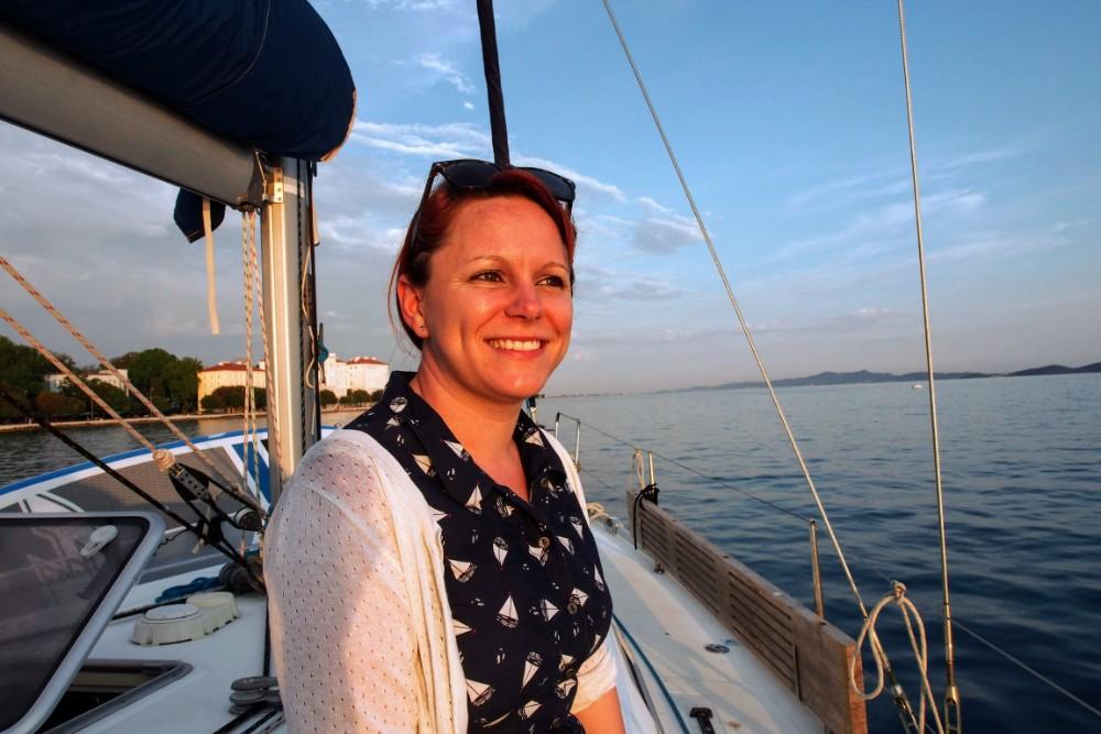 Jade looks resplendent in the setting sun