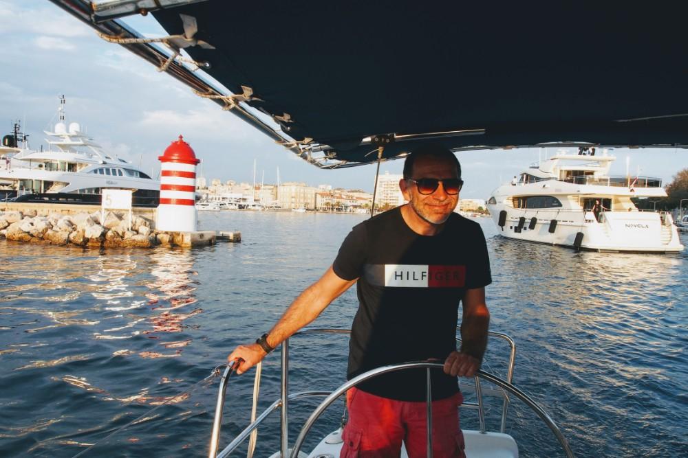 Rajko captains Kron, our vessel for the evening, out of Zadar harbour