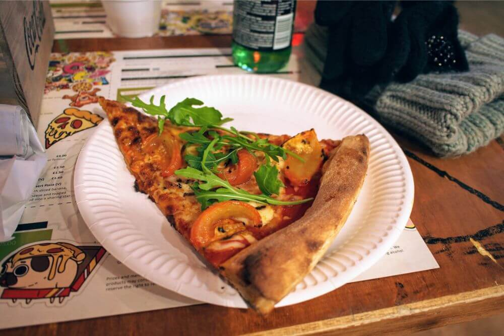 Inexpensive and delicious pizza slices at American Pizza Slice, Liverpool
