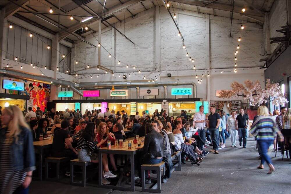 Abandoned warehouses are now a hub of food, drink and socialising