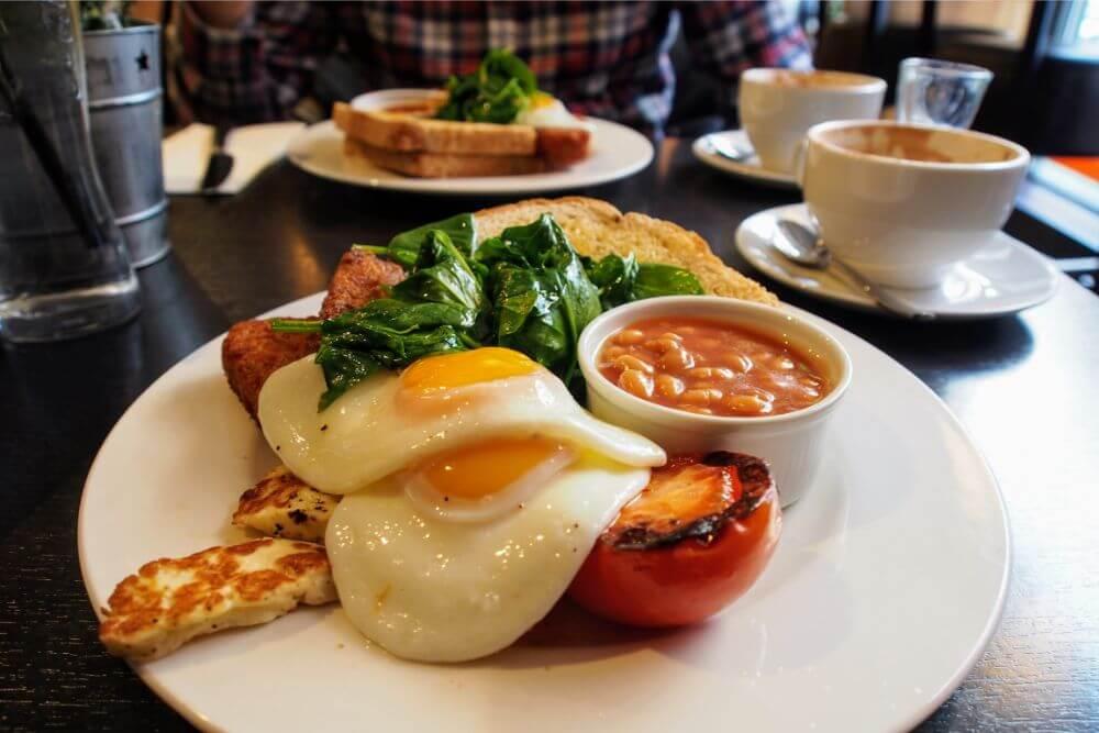 Scrumptious veggie breakfast at Barley & Beans, Liverpool