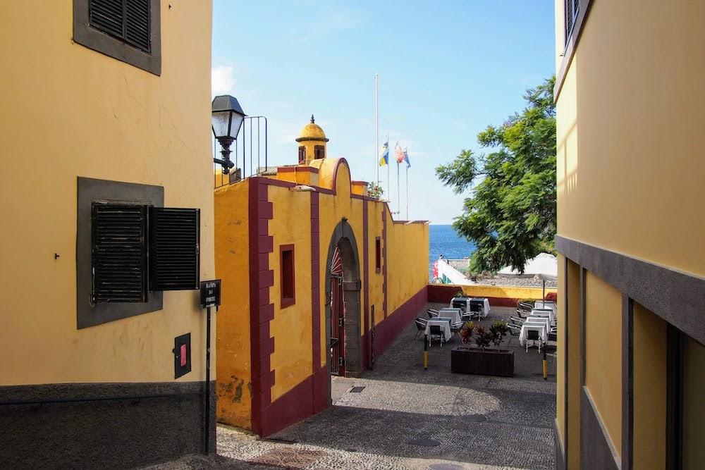 The entrance to Forte de São Tiago, Funchal