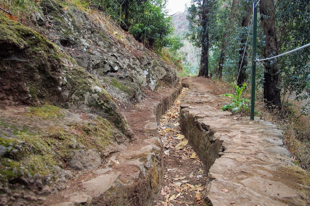 Levada dos Tornos is an irrigation channel and popular walking route.