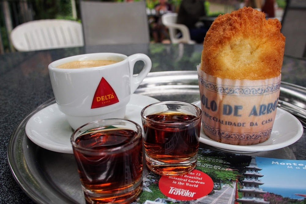 It's pretty easy to score free samples of Madeira Wine all over Funchal
