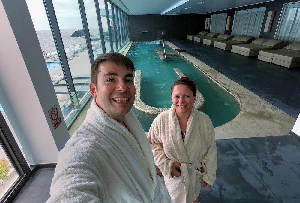 We had the salt water spa all to ourselves during our visit