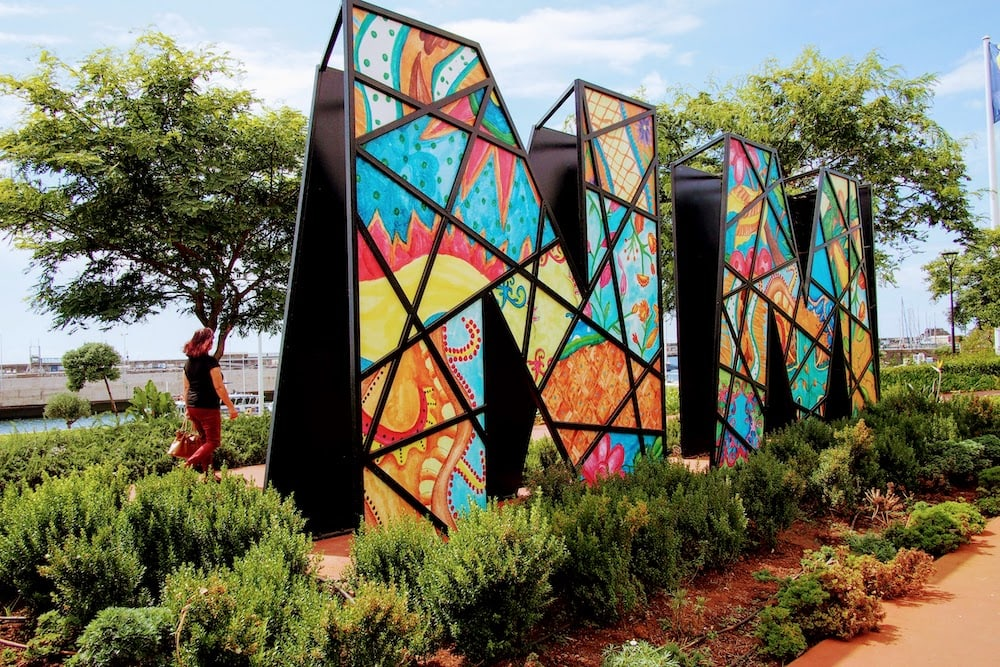 A tribute to Nelson Mandela can be found along Funchal's promenade