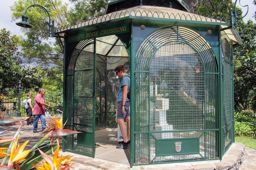 A book exchange inside Santa Catarina Park
