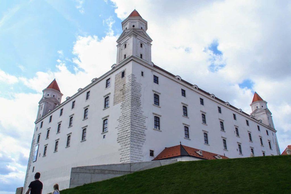 Bratislava Castle dominates the city's skyline