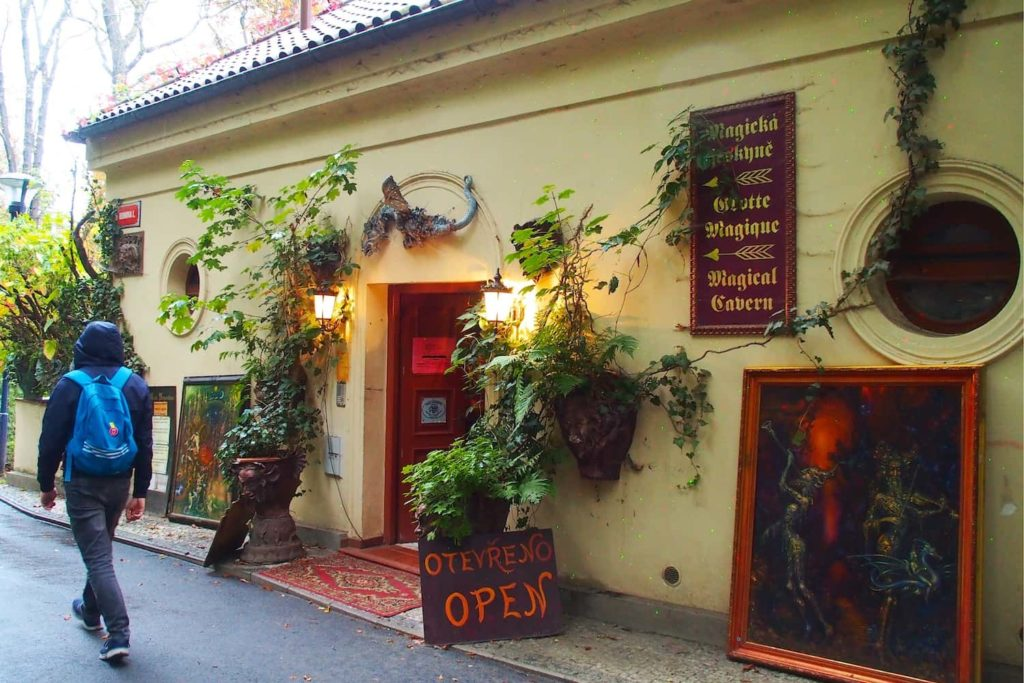 There are lots of hidden bits throughout Petřín Gardens, like this art and craft shop