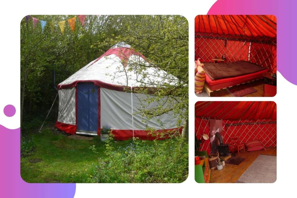 The Yurt at Tithe Farm in Louth, Lincolnshire