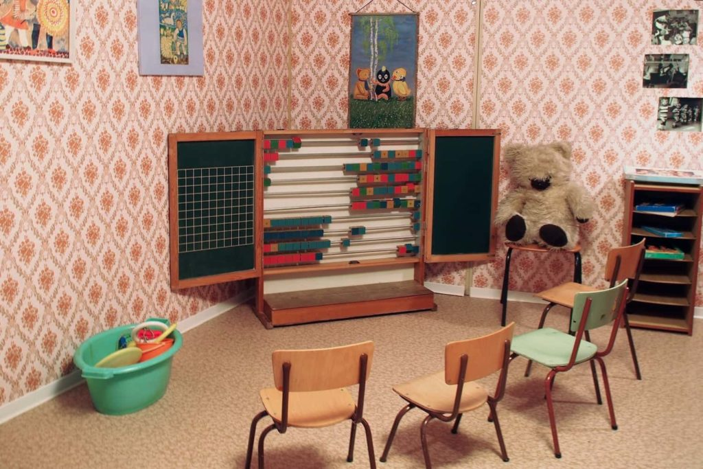 One of several rooms at the DDR Museum, kitted out with stuff from the era