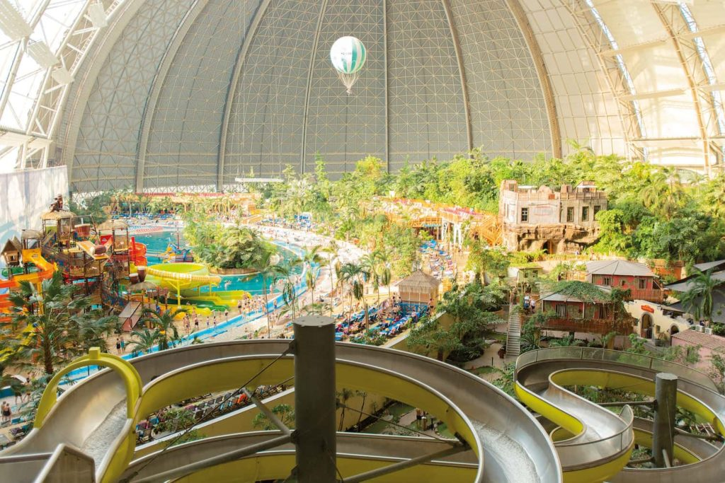 The hanger which houses Tropical Islands resort is massive