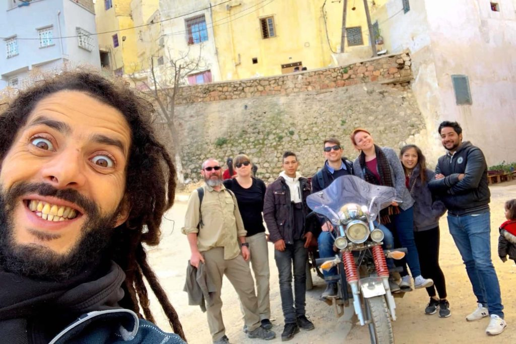 Ahmed takes a selfie of our small tour group and our Tuk Tuk driver