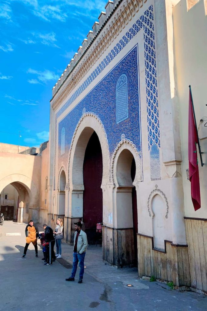 One of the entrance gates to the Medina of Fes