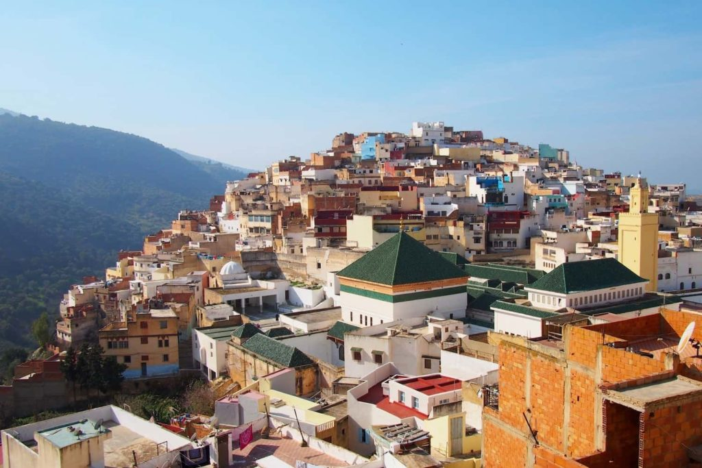 Moulay Idriss, as seen from the terrace at our tour guide's home