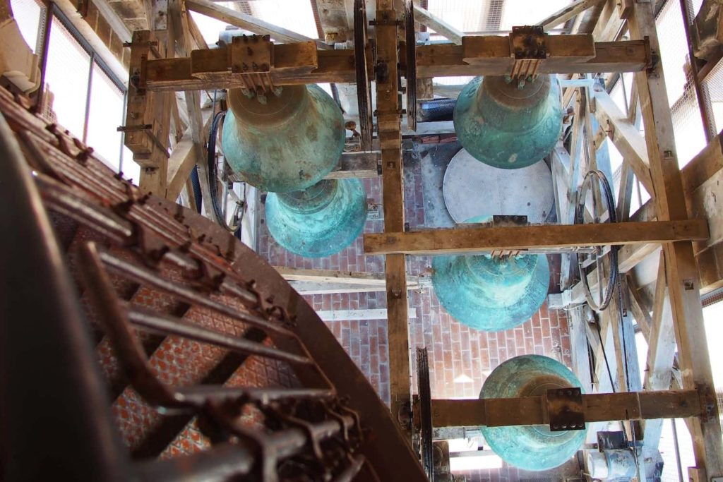 A particularly hairy moment as you look down upon the bell of Zadar's bell tower